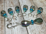 Crystal Knitting Stitch Markers with Holder , Stitch Markers - Jill's Beaded Knit Bits, Jill's Beaded Knit Bits  - 4