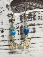 Sheep Dangle Earrings , Jewelry - Jill's Beaded Knit Bits, Jill's Beaded Knit Bits  - 3