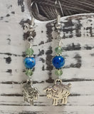 Sheep Dangle Earrings , Jewelry - Jill's Beaded Knit Bits, Jill's Beaded Knit Bits  - 4