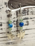 Sheep Dangle Earrings , Jewelry - Jill's Beaded Knit Bits, Jill's Beaded Knit Bits  - 5