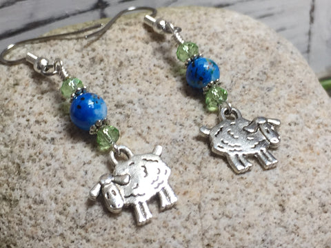 Sheep Dangle Earrings