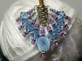 Blue Cloud Knitting Stitch Marker Set , Stitch Markers - Jill's Beaded Knit Bits, Jill's Beaded Knit Bits  - 7