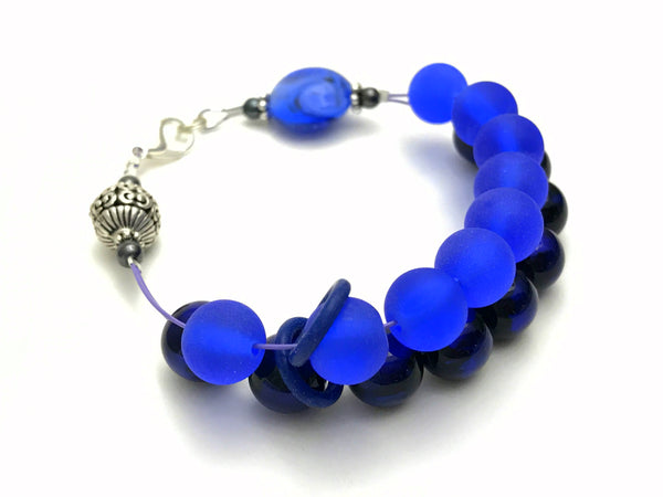 Violet Blue Abacus Counting Bracelet- Gift for Knitters