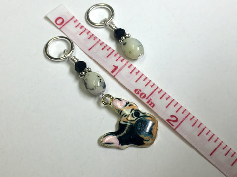 Boston Terrier Stitch Marker Set for Knitters , Stitch Markers - Jill's Beaded Knit Bits, Jill's Beaded Knit Bits  - 4