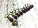 Brass Buttons Knitting Stitch Marker Set , Stitch Markers - Jill's Beaded Knit Bits, Jill's Beaded Knit Bits  - 4