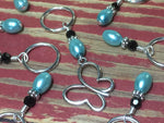 Open Butterfly Stitch Marker Set , Stitch Markers - Jill's Beaded Knit Bits, Jill's Beaded Knit Bits  - 2