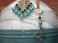Open Butterfly Stitch Marker Set , Stitch Markers - Jill's Beaded Knit Bits, Jill's Beaded Knit Bits  - 3