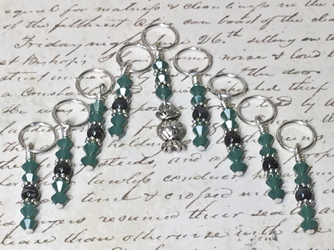 Candy Beaded Stitch Marker Set- Food Markers
