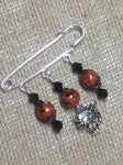 Beaded Cat Shawl Pin , Jewelry - Jill's Beaded Knit Bits, Jill's Beaded Knit Bits  - 1
