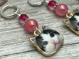 Cat Cuteness Stitch Markers for Knitting with Snag Free Rings