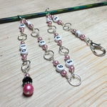 Pink Chain Style Row Counter , Stitch Markers - Jill's Beaded Knit Bits, Jill's Beaded Knit Bits  - 5