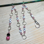 Pink Chain Style Row Counter , Stitch Markers - Jill's Beaded Knit Bits, Jill's Beaded Knit Bits  - 2