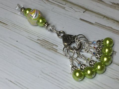 Chartreuse Green Stitch Marker Holder Set , Stitch Markers - Jill's Beaded Knit Bits, Jill's Beaded Knit Bits  - 2