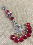 Cherry Red Knitting Bag Stitch Marker Lanyard Holder , Stitch Markers - Jill's Beaded Knit Bits, Jill's Beaded Knit Bits  - 5