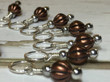Stitch Marker Set- Copper Acrylic , Stitch Markers - Jill's Beaded Knit Bits, Jill's Beaded Knit Bits  - 5