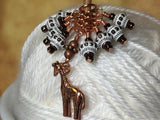 Copper Giraffe Stitch Marker Set , Stitch Markers - Jill's Beaded Knit Bits, Jill's Beaded Knit Bits  - 10