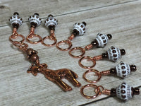 Copper Giraffe Stitch Marker Set , Stitch Markers - Jill's Beaded Knit Bits, Jill's Beaded Knit Bits  - 4