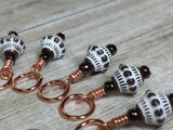 Copper Giraffe Stitch Marker Set , Stitch Markers - Jill's Beaded Knit Bits, Jill's Beaded Knit Bits  - 7