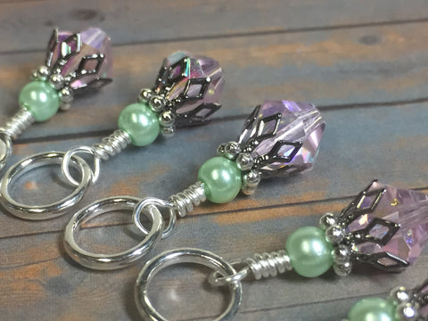Cotton Candy & Pistachio Stitch Marker Set , Stitch Markers - Jill's Beaded Knit Bits, Jill's Beaded Knit Bits  - 3