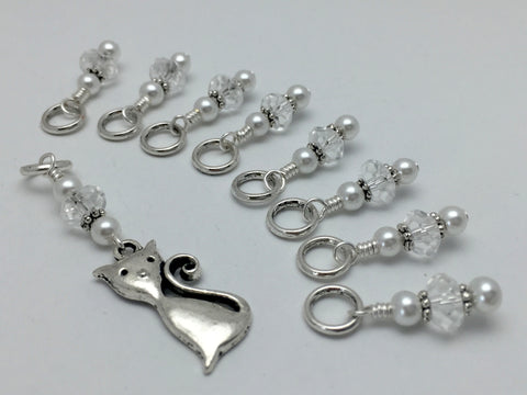 Elegant Cat Knitting Stitch Marker Set , Stitch Markers - Jill's Beaded Knit Bits, Jill's Beaded Knit Bits  - 4