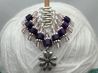 Daisy Knitting Stitch Marker Set- Gift for Knitters , Stitch Markers - Jill's Beaded Knit Bits, Jill's Beaded Knit Bits  - 3