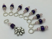 Daisy Knitting Stitch Marker Set- Gift for Knitters , Stitch Markers - Jill's Beaded Knit Bits, Jill's Beaded Knit Bits  - 2