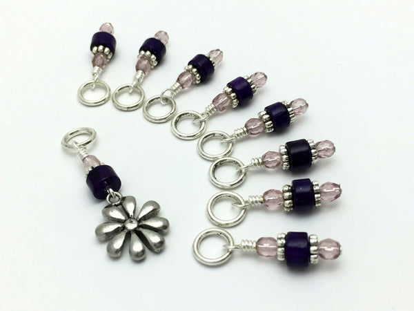Daisy Knitting Stitch Marker Set- Gift for Knitters , Stitch Markers - Jill's Beaded Knit Bits, Jill's Beaded Knit Bits  - 1