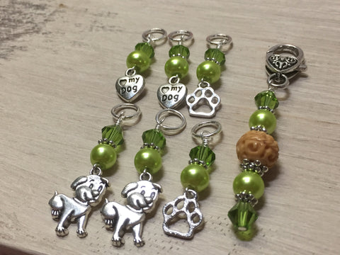 Dog Lovers Stitch Marker Set And Beaded Stitch Marker Holder , Stitch Markers - Jill's Beaded Knit Bits, Jill's Beaded Knit Bits  - 5