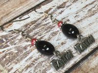 Faith Dangle Earrings , Jewelry - Jill's Beaded Knit Bits, Jill's Beaded Knit Bits  - 6