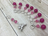 Flying Pig Stitch Marker Jewelry Set for Knitting , Stitch Markers - Jill's Beaded Knit Bits, Jill's Beaded Knit Bits  - 3