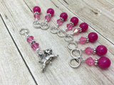 Flying Pig Stitch Marker Jewelry Set for Knitting , Stitch Markers - Jill's Beaded Knit Bits, Jill's Beaded Knit Bits  - 7