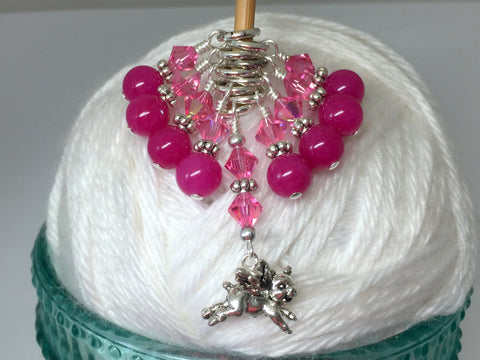 Flying Pig Stitch Marker Jewelry Set for Knitting , Stitch Markers - Jill's Beaded Knit Bits, Jill's Beaded Knit Bits  - 9