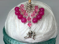 Flying Pig Stitch Marker Jewelry Set for Knitting , Stitch Markers - Jill's Beaded Knit Bits, Jill's Beaded Knit Bits  - 6