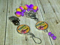 """Follow Your Dream"" Portuguese Knitting Pin & Stitch Marker Gift Set , Portugese Knitting Pin - Jill's Beaded Knit Bits, Jill's Beaded Knit Bits  - 12"