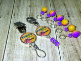 """Follow Your Dream"" Portuguese Knitting Pin & Stitch Marker Gift Set , Portugese Knitting Pin - Jill's Beaded Knit Bits, Jill's Beaded Knit Bits  - 11"