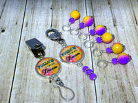 """Follow Your Dream"" Portuguese Knitting Pin & Stitch Marker Gift Set , Portugese Knitting Pin - Jill's Beaded Knit Bits, Jill's Beaded Knit Bits  - 10"