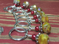 Giraffe Stitch Marker Set in Yellow , Stitch Markers - Jill's Beaded Knit Bits, Jill's Beaded Knit Bits  - 7