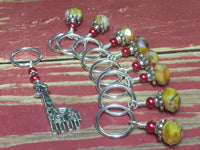 Giraffe Stitch Marker Set in Yellow , Stitch Markers - Jill's Beaded Knit Bits, Jill's Beaded Knit Bits  - 4