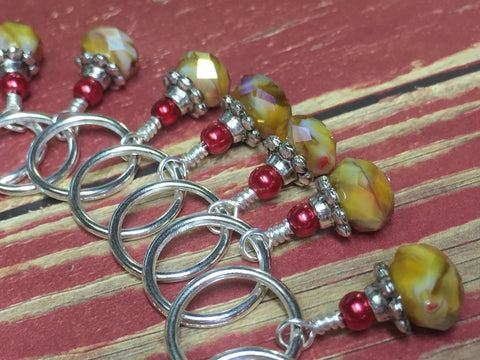 Giraffe Stitch Marker Set in Yellow , Stitch Markers - Jill's Beaded Knit Bits, Jill's Beaded Knit Bits  - 5