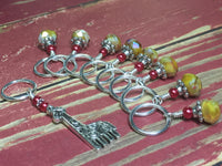 Giraffe Stitch Marker Set in Yellow , Stitch Markers - Jill's Beaded Knit Bits, Jill's Beaded Knit Bits  - 2