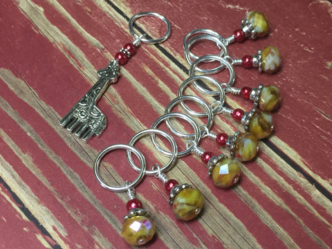 Giraffe Stitch Marker Set in Yellow , Stitch Markers - Jill's Beaded Knit Bits, Jill's Beaded Knit Bits  - 6