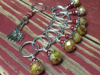 Giraffe Stitch Marker Set in Yellow , Stitch Markers - Jill's Beaded Knit Bits, Jill's Beaded Knit Bits  - 8