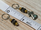 Golden Pear Stitch Marker Set , Stitch Markers - Jill's Beaded Knit Bits, Jill's Beaded Knit Bits  - 6