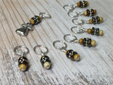 Golden Pear Stitch Marker Set , Stitch Markers - Jill's Beaded Knit Bits, Jill's Beaded Knit Bits  - 9