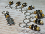 Golden Pear Stitch Marker Set , Stitch Markers - Jill's Beaded Knit Bits, Jill's Beaded Knit Bits  - 7