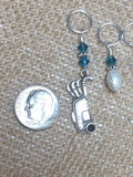 Golf Bag Stitch Marker Set , Stitch Markers - Jill's Beaded Knit Bits, Jill's Beaded Knit Bits  - 4
