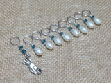 Golf Bag Stitch Marker Set , Stitch Markers - Jill's Beaded Knit Bits, Jill's Beaded Knit Bits  - 1