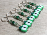 Green Apple Slice Stitch Markers , Stitch Markers - Jill's Beaded Knit Bits, Jill's Beaded Knit Bits  - 3