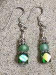 Green Cube Crystal Earrings , jewelry - Jill's Beaded Knit Bits, Jill's Beaded Knit Bits  - 2