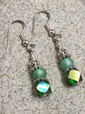 Green Cube Crystal Earrings , jewelry - Jill's Beaded Knit Bits, Jill's Beaded Knit Bits  - 3